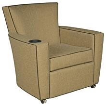 View Product - Payton Lounge Chair with Front Casters, Cupholder