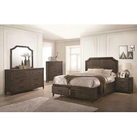 Richmond Rustic Dark Grey Oak Queen Five-piece Set