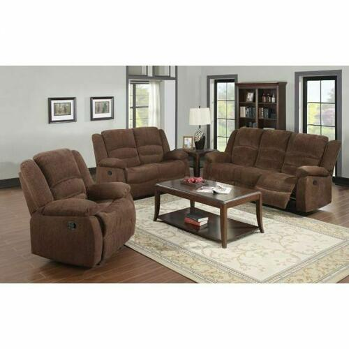 ACME Bailey Sofa (Motion) - 51025 - Dark Brown Chenille
