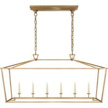 E. F. Chapman Darlana 6 Light 54 inch Antique-Burnished Brass Linear Lantern Ceiling Light, Large