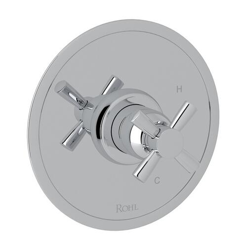 Polished Chrome Perrin & Rowe Holborn Pressure Balance Trim Without Diverter with Holborn Cross Handle