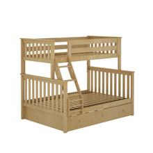 See Details - Twin/Full Bunk + Trundle Storage Natural