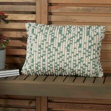 "Outdoor Pillows Ih013 Aqua 14"" X 20"" Throw Pillow"