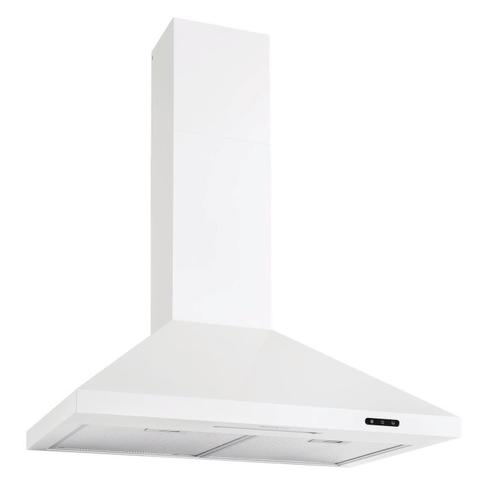 Broan® Elite EW48 Series 30-Inch Pyramidal Chimney Range Hood, 460 Max Blower CFM, White