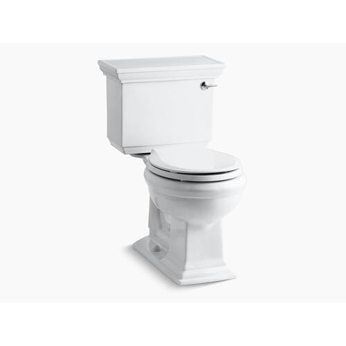 White Two-piece Round-front 1.28 Gpf Chair Height Toilet With Right-hand Trip Lever