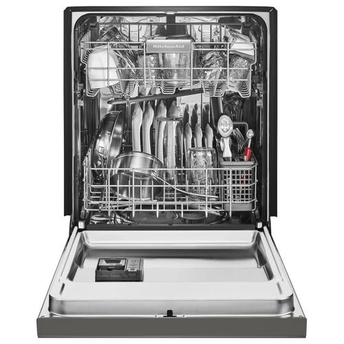 KitchenAid - 46 DBA Dishwasher with ProWash Cycle and PrintShield Finish, Front Control Stainless Steel with PrintShield™ Finish
