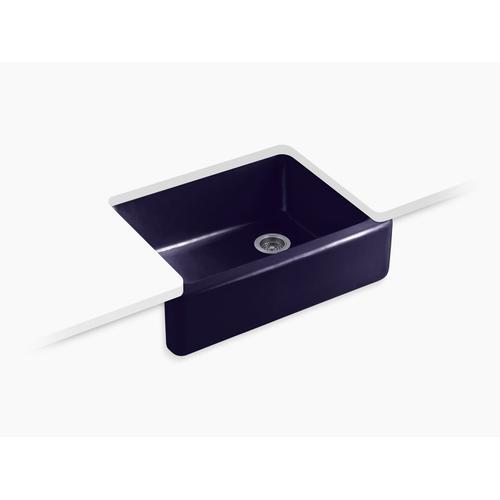 """Indigo Blue 29-11/16"""" X 21-9/16"""" X 9-5/8"""" Undermount Single-bowl Farmhouse Kitchen Sink"""