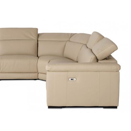 VIG Furniture - Estro Salotti Palinuro - Italian Modern Taupe Leather Sectional Sofa with Recliners