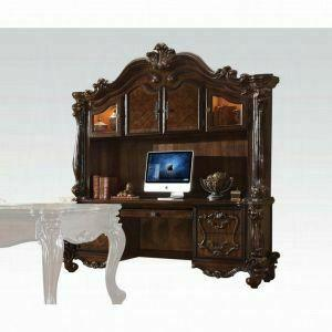 ACME Versailles Computer Desk & Hutch - 92284 - Cherry Oak