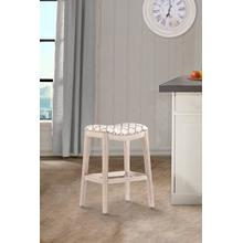 Sorella Non Swivel Backless Bar Stool - White