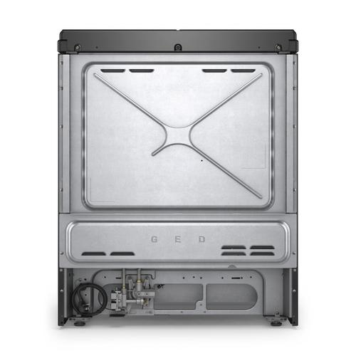 Whirlpool - 5.8 cu. ft. Smart Slide-in Gas Range with EZ-2-Lift™ Hinged Cast-Iron Grates Black