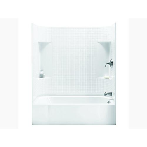 """Sterling - Accord® 60"""" x 30"""" bath/shower with right-hand above-floor drain - White"""