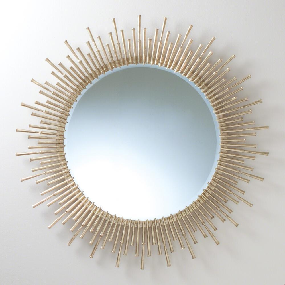 See Details - Spike Mirror-Antique Brass