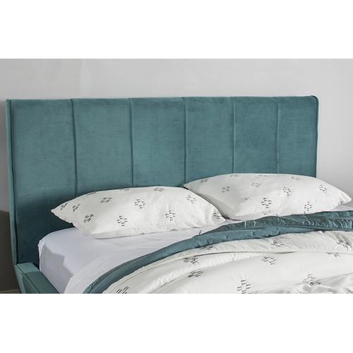 Aussie King Platform Bed - Teal Velvet