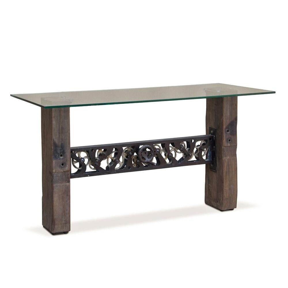 """Vintage Industrial 60"""" Console Glass Top"""