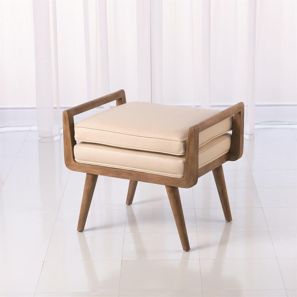 See Details - Lucas Short Bench-Beige Leather