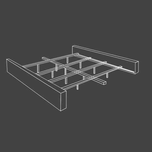 JAMIE - FALSTAFF Queen Footboard and Rails 5/0 (Grey)