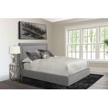 See Details - CODY - MINERAL Upholstered Bed Collection (Grey)