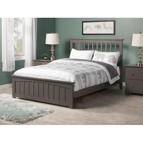 Mission Full Bed with Matching Foot Board in Atlantic Grey