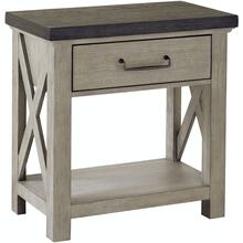 See Details - Farmhouse Gray Open Nightstand