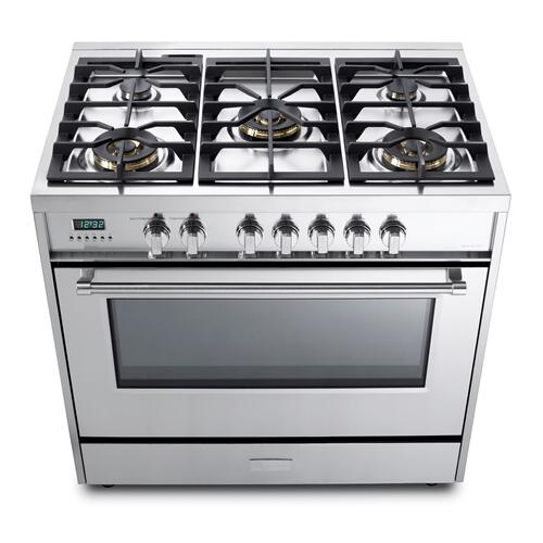 "Stainless Steel 36"" Dual Fuel - Designer Series"