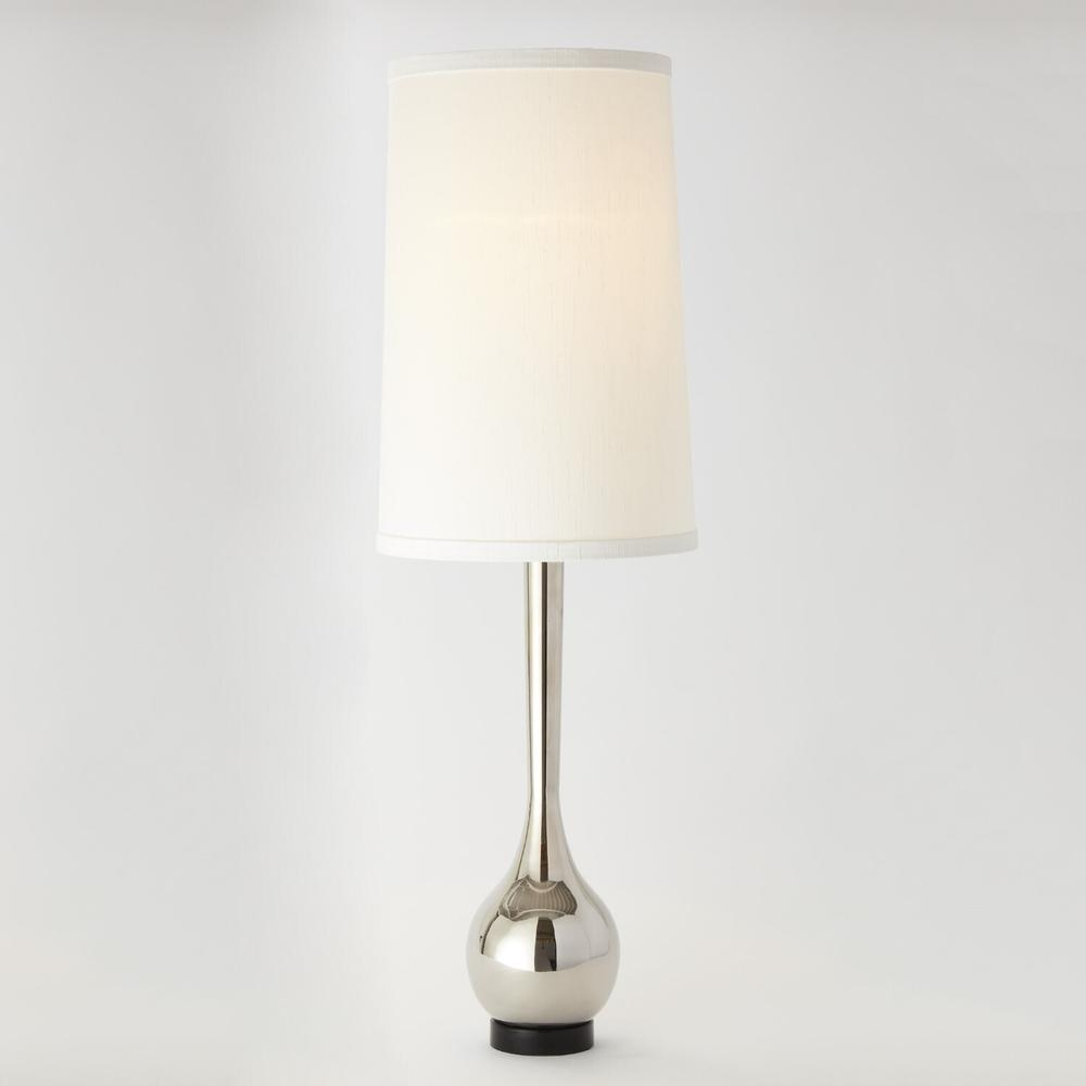 See Details - Bulb Vase Table Lamp-Nickel