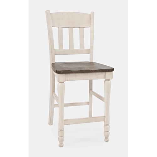 Madison County Slatback Counter Stool - Vintage White