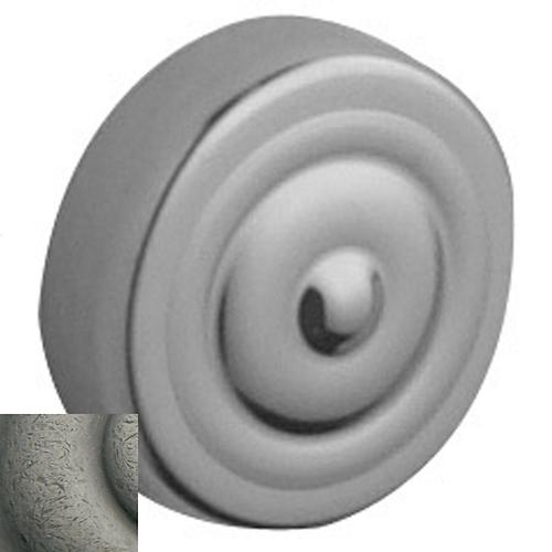 Baldwin - Distressed Antique Nickel Traditional Screw Cover