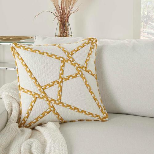 """Outdoor Pillows Vj006 Yellow 18"""" X 18"""" Throw Pillow"""