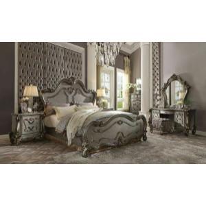 ACME Versailles Queen Bed - 26860Q - Antique Platinum