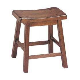 "ACME Gaucho Stool (Set-2) - 07303 - Walnut - 18"" Seat Height"
