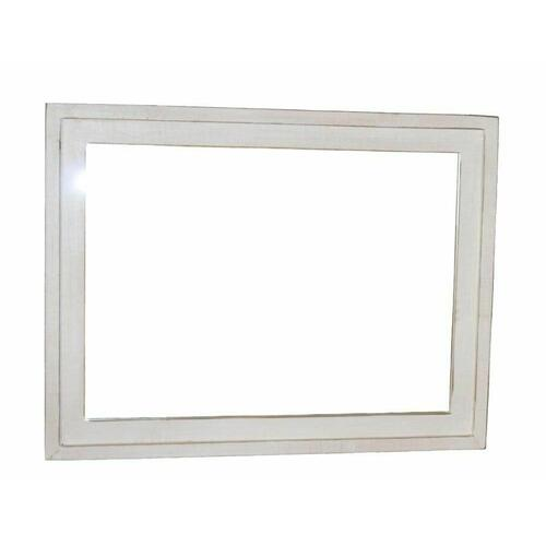 Million Dollar Rustic - Weathered White Landscape Mirror