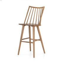 Bar Stool Size Sandy Oak Finish Lewis Windsor Bar + Counter Stool