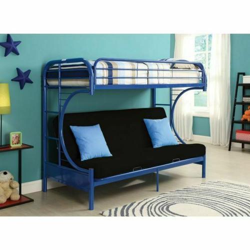 ACME Eclipse Twin XL/Queen/Futon Bunk Bed - 02093BU - Blue