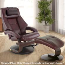 View Product - Mandal Cervical Pillow in Merlot Top Grain Leather