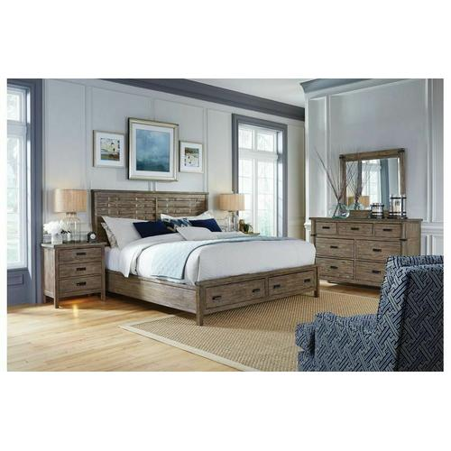 Gallery - Panel King Bed - Complete W/ Storage Footboard