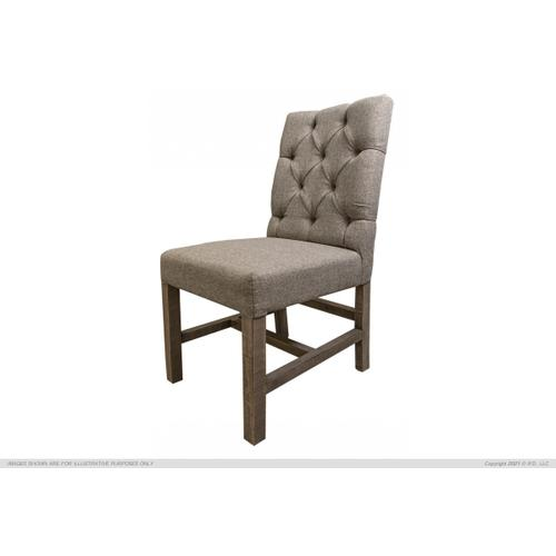 See Details - Tufted Chair, Gray Fabric
