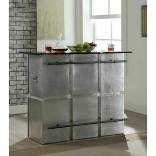 ACME Brancaster Bar Table - 70450KIT - Marble & Aluminum