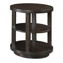 Oval End Table - Chocolate Mahogany Finish
