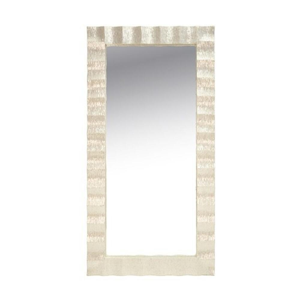 Decked Out From Head To Toe, Our Milo Floor Mirror Dazzles With Its Scalloped Frame Composed of Pearlized Capiz Shells. Place Front and Center Horizontally Above Your Entry Console, Hang Vertically for A Glamorous Finish In Your Dressing Area, or Lean It Casually Against the Wall if That's Your Thing. So Versatile, You'll See Milo Is Truly A Natural Wonder!