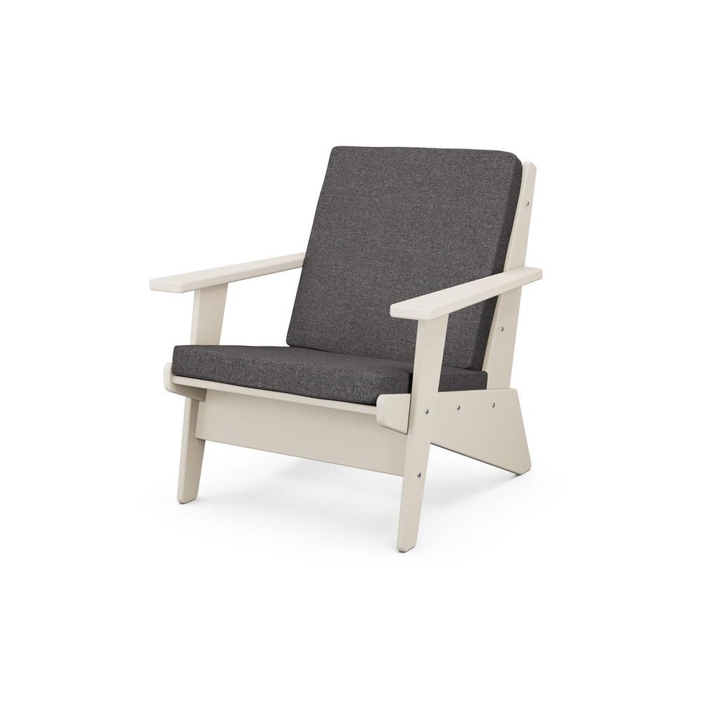Sand & Ash Charcoal Riviera Modern Lounge Chair