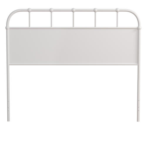 Grayson Full/queen Metal Headboard Without Frame, Textured White