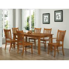 See Details - Marbrisa Mission Oak Seven-piece Dining Set