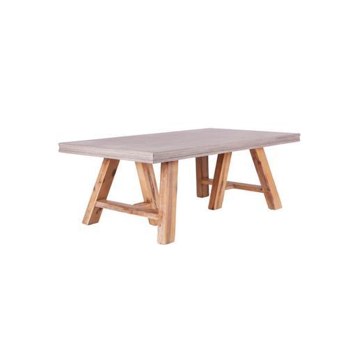 Gallery - Modrest Civic Modern Concrete & Acacia Coffee Table