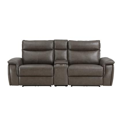 See Details - Power Double Reclining Love Seat with Center Console and Power Headrests