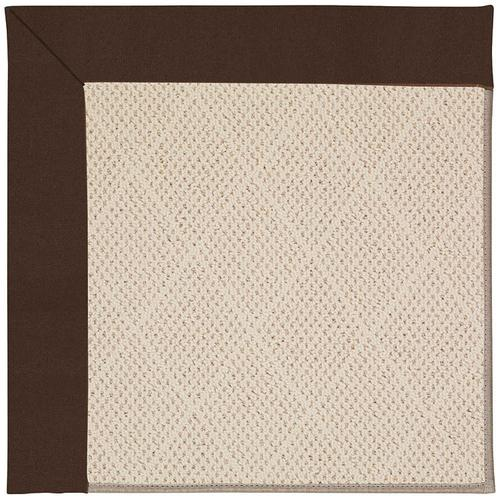 Creative Concepts-White Wicker Canvas Bay Brown Machine Tufted Rugs