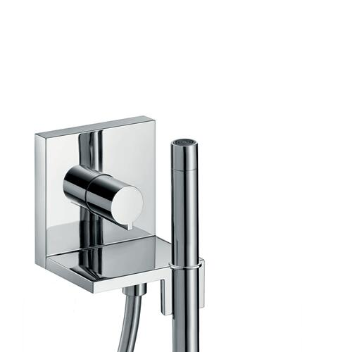 Polished Black Chrome Hand shower module 120/120 for concealed installation square