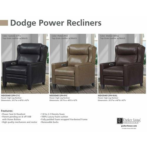 DODGE - CYCLONE Power High Leg Recliner