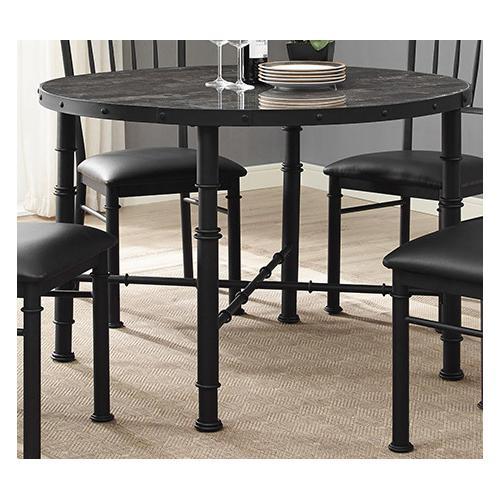 Bernards - Stonehenge Metal and Stone Dining Table