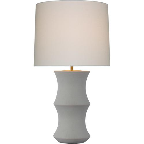 AERIN Marella 33 inch 15.00 watt Porous White Table Lamp Portable Light, Medium